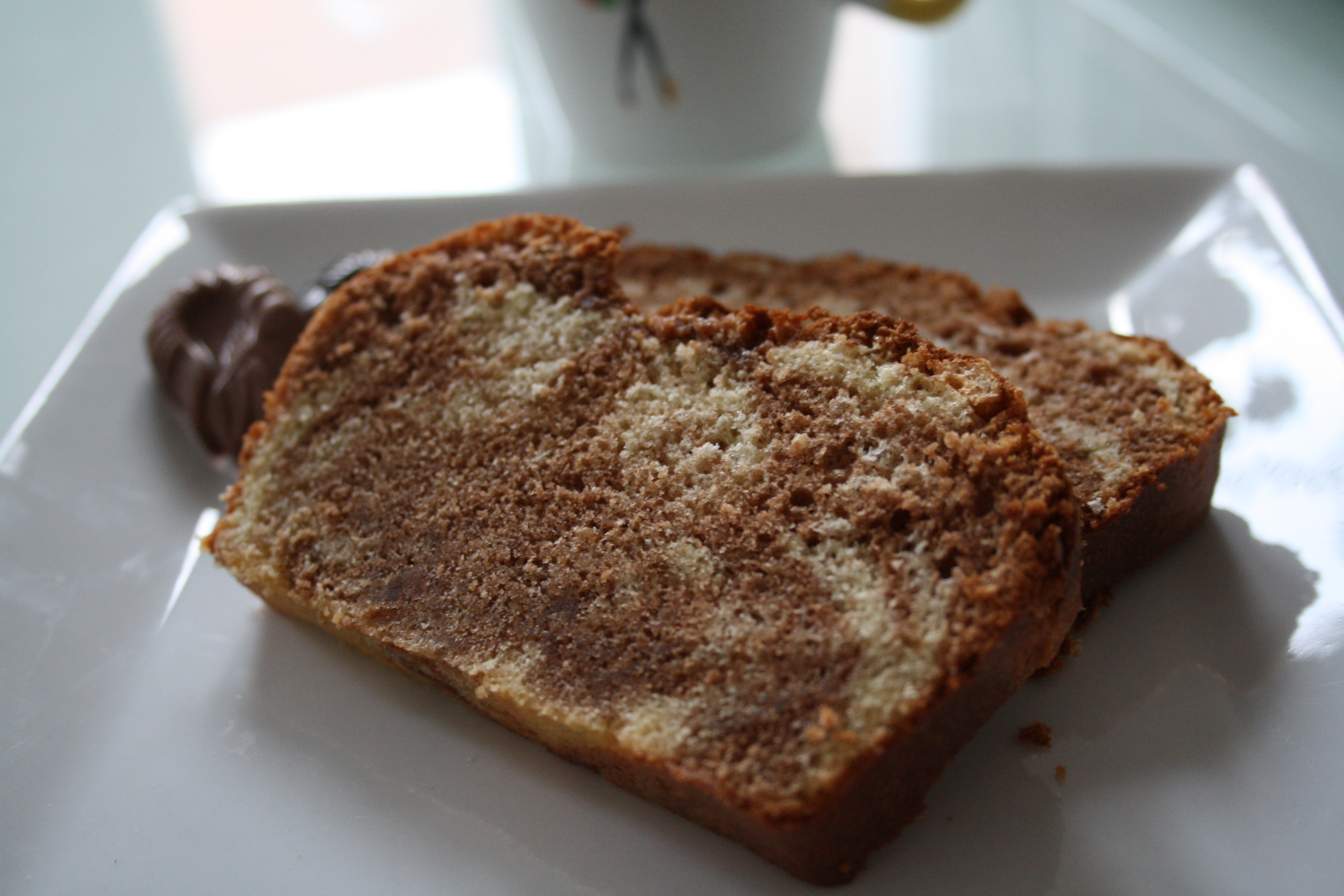 Cake marbré aux chocolats - Mathilde et Gourmandises