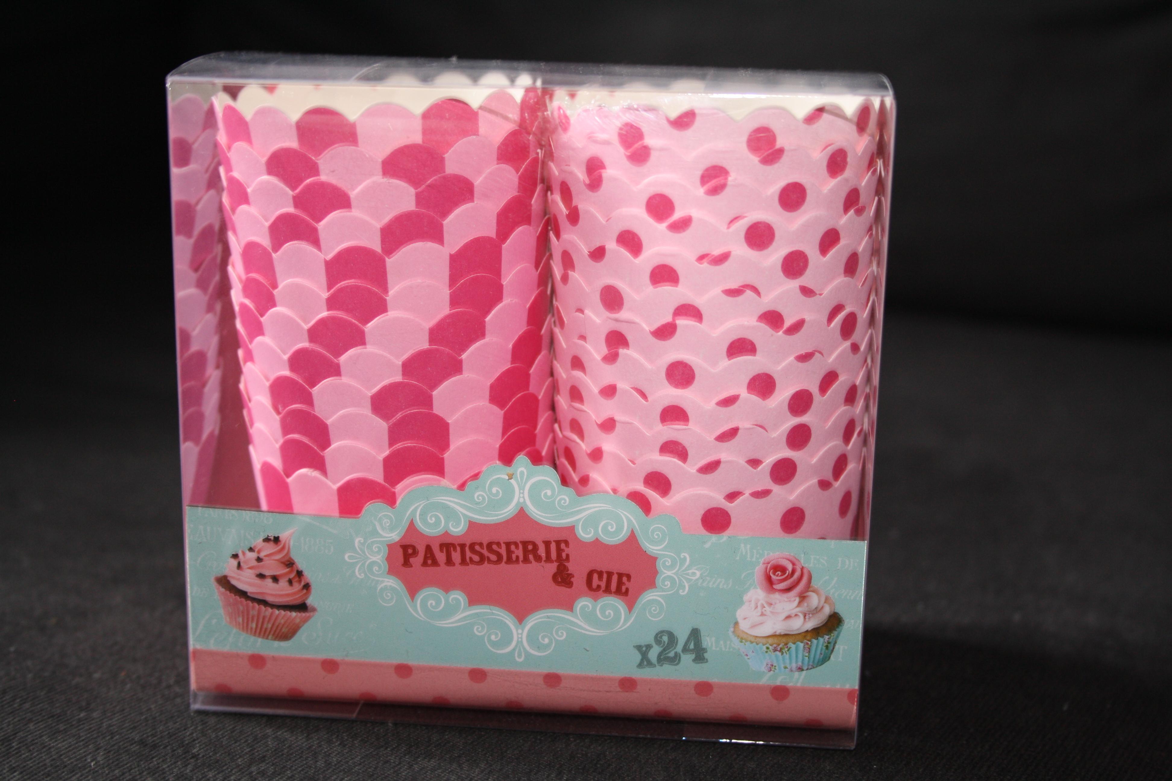 Boite de 24 moules à Cupcakes ou Muffins - 2,50€