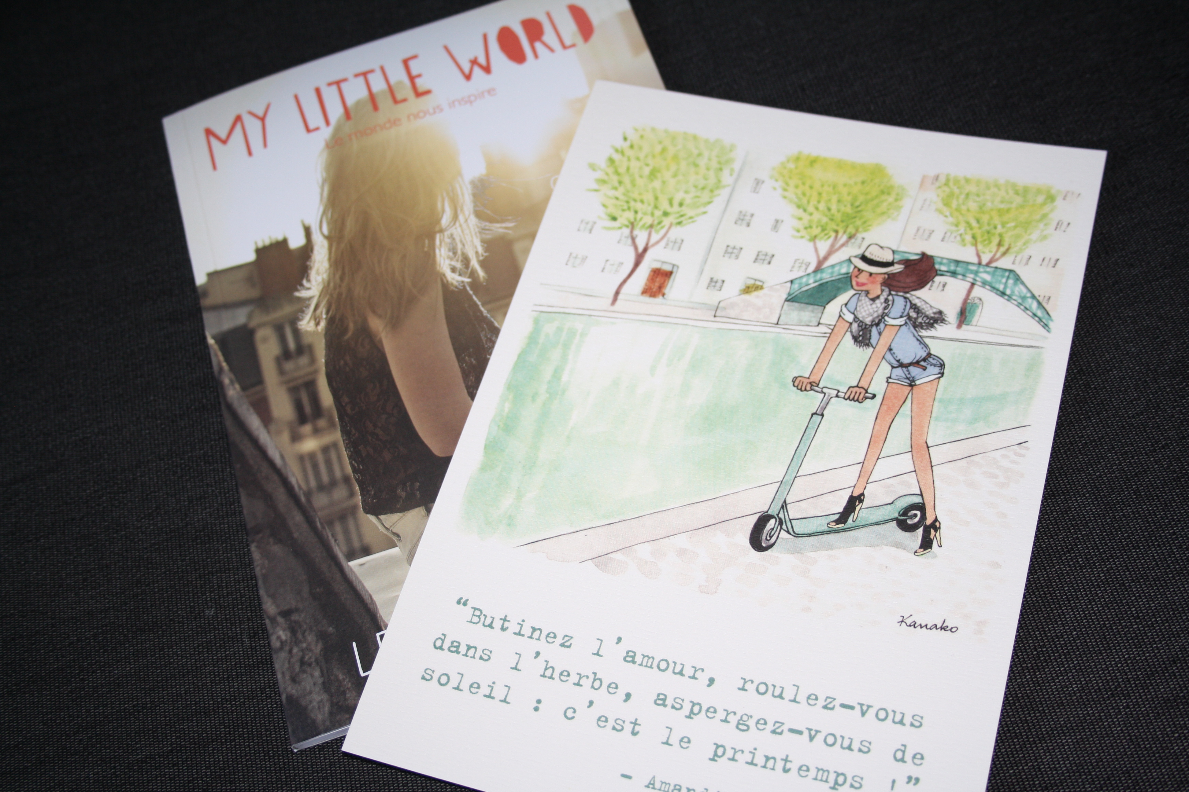 "Illustration de Kanako et le livret du mois ""Let the Sunshine in"""
