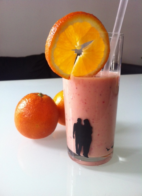 Smoothie Orange Fraise Banane - Mathilde et Gourmandises