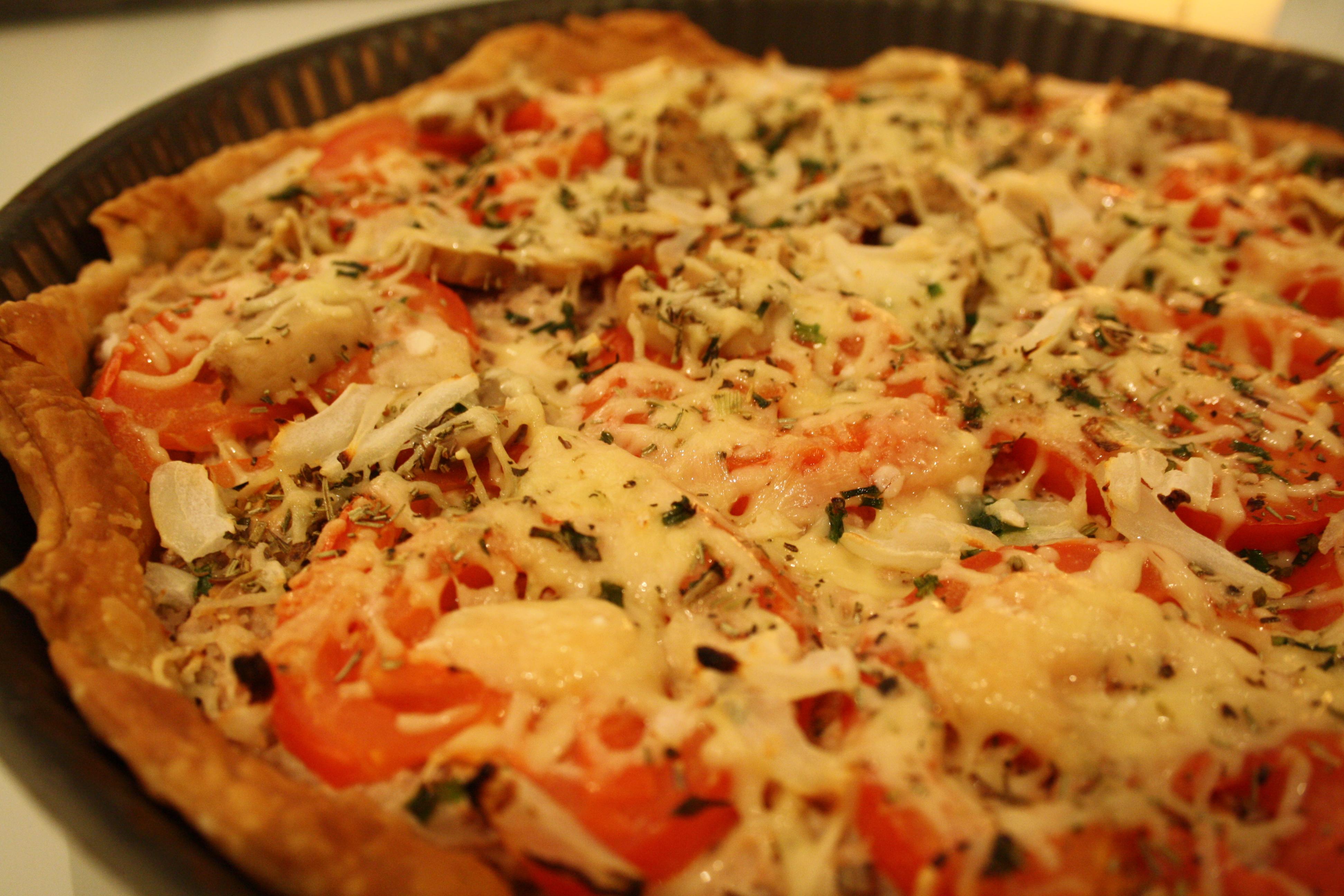 Mathilde et Gourmandises - Tarte Tomate Mozzarella Champignons