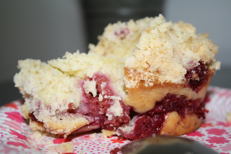 Muffin crumble framboise mûre - Mathilde et Gourmandises