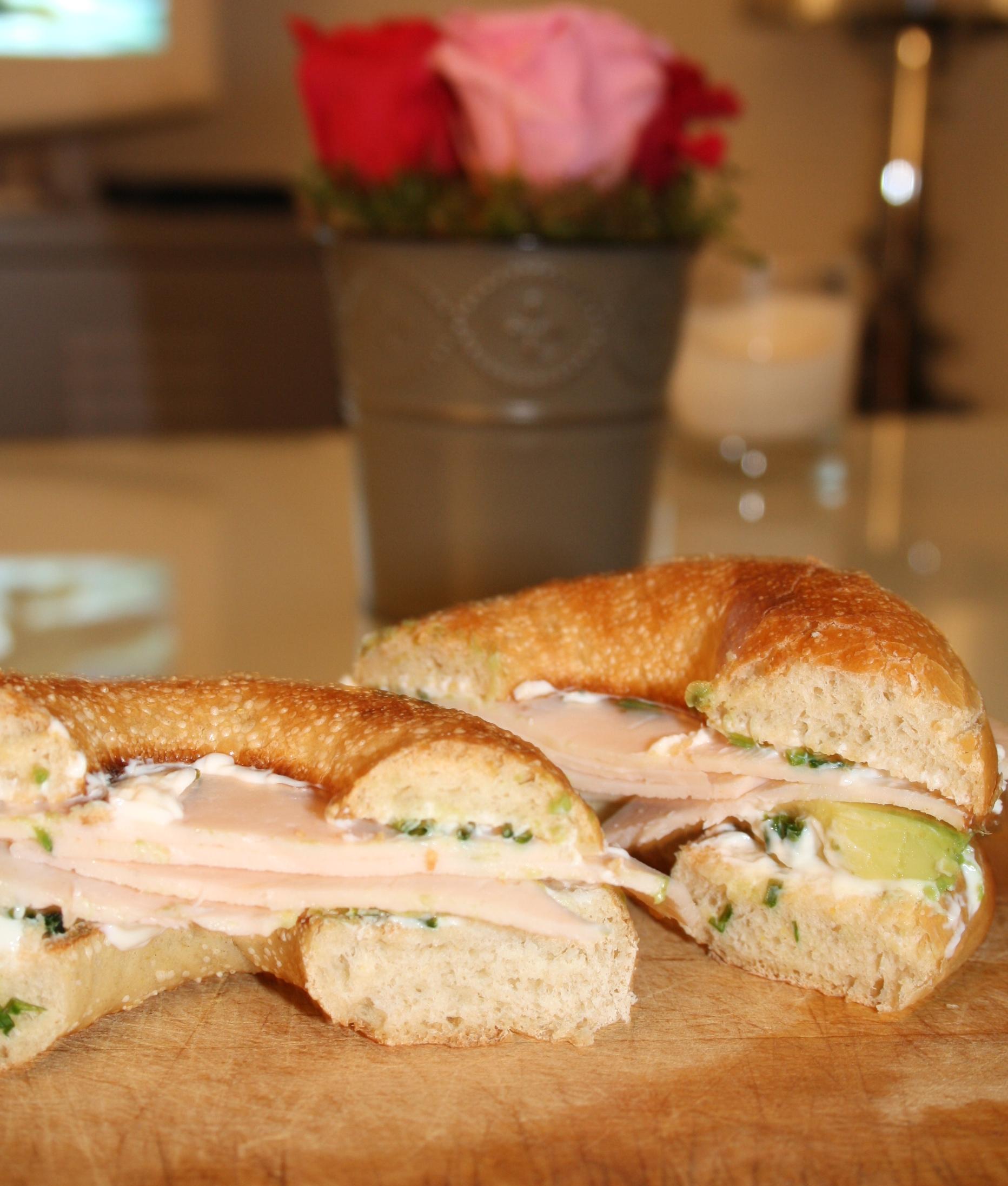 Bagel Dinde Avocat - Mathilde et Gourmandises