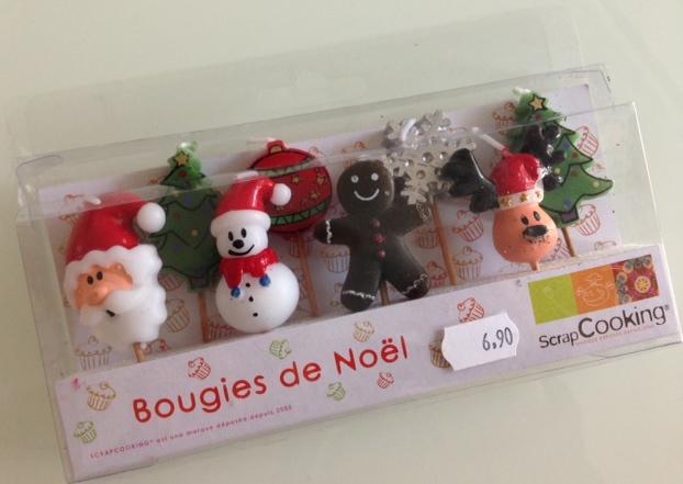 Bougies de Noël - pour décorer les pâtisseries de cette fin d'année