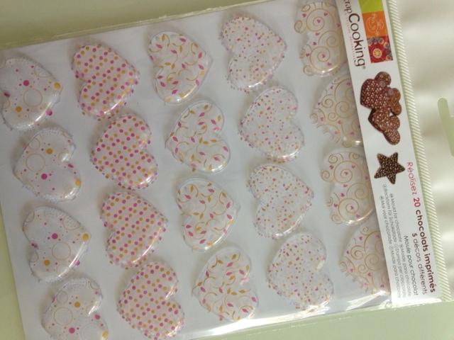 Moule pour chocolat - pour réaliser des chocolats imprimés