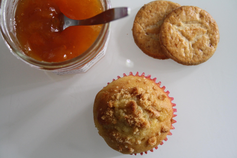 Muffin abricot peche caramel - Mathilde et Gourmandises