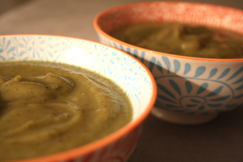 Soupe courgette aubergine - Mathilde et Gourmandises1